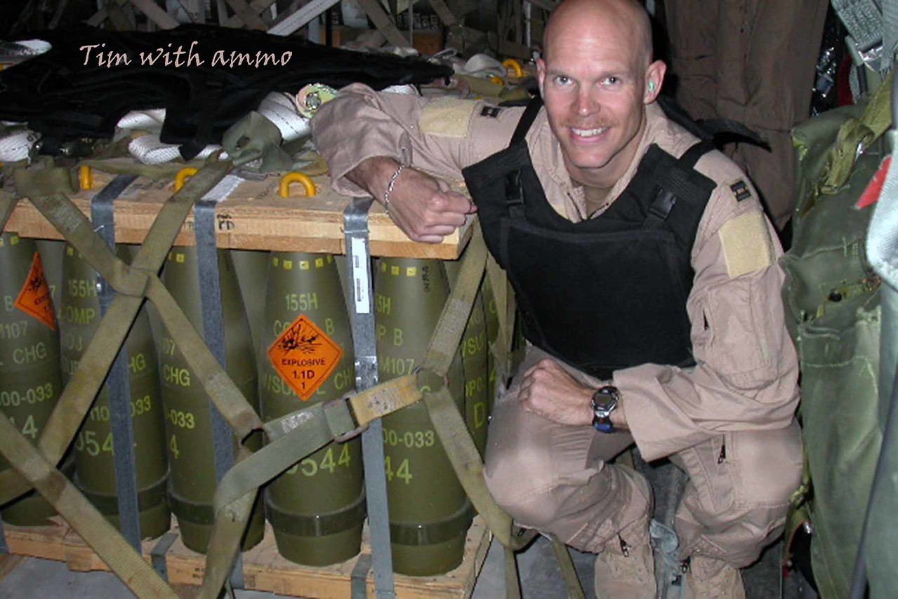 Tim with ammo - April 2005