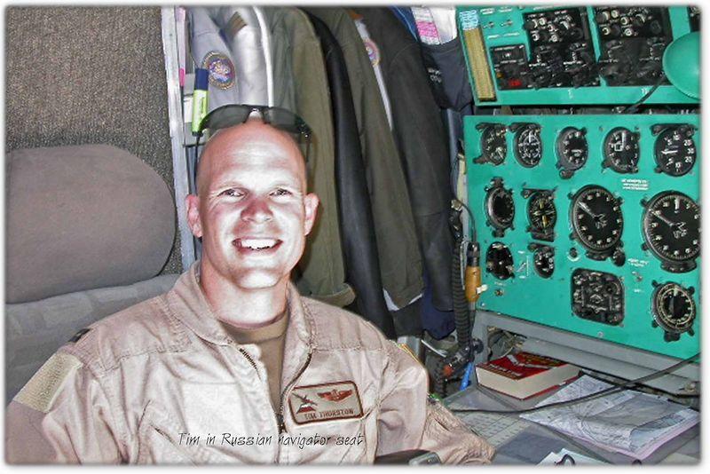 Tim in Russian navigator seat May 2005