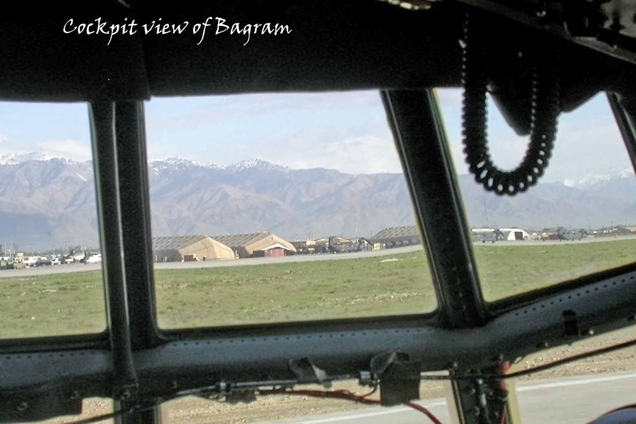Cockpit view of Bagram - April 2005