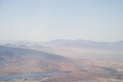 Near Rancho Bernardo? This photo needs more work... Probably crop it down to a panorama or hazy mountains...
