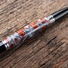 Hand-turned pen:  Mesa Style - Chrome<br /> Color:  Triple Ripple