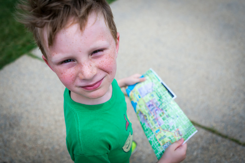 Kyle reading the map and leading us down the National Mall. Digital, July 2014.