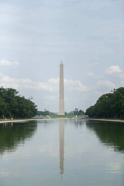 Looking down The Reflecting Pool towards the Washington Monument. Digital, July 2014.