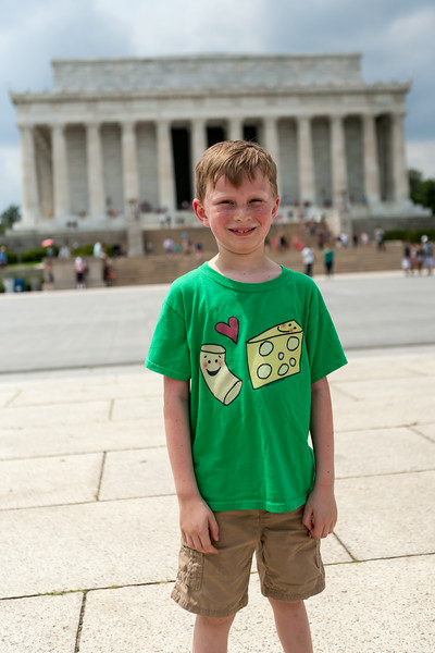 Kyle in front of the Lincoln Memorial. Digital, July 2014.