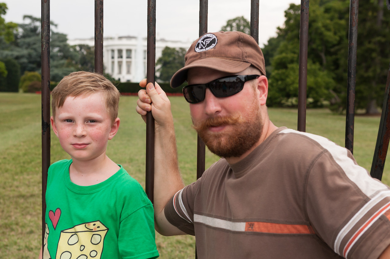 In front of the White House. Digital, July 2014.