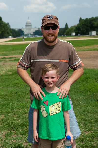 Tim and Kyle on the National Mall with the US Capitol in the background. Digital, July 2014.