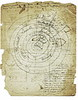 Abigail Tinkham's circular genealogical Tinkham chart. Edge comments by Helen A Brown