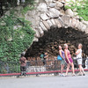 At the Grotto in Notre Dame