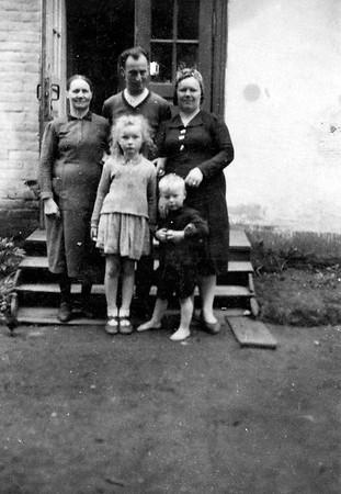 Berta Steinke, Lydia and Alex Todositchuk, Bruno, from Wien, Austria, Rosalia Steinke(Todositchuk) 1943 - Wolochisk, Ukraine