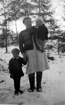 Nicky Bodar, mother Rosalia Bondar, and Olga Bondar 1948 - Puerten, Bavaria - DP Camp