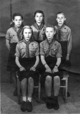 Girl Scout Group in Puerten, Bavaria - 1948  - In DP Camp