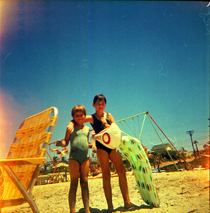 Annette and Ramona Grant - Oceanside, California - 1970