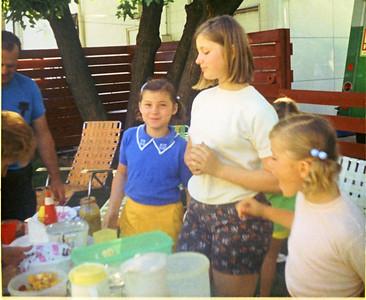 Picknic at GMA Sullivan's - GMA and GPA Sullivan, Ramona, Jeanette and Shari Grant - Peru, Indiana - 1971
