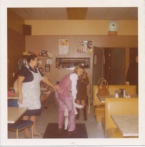 Olga Bondar (Gibb) at Bondar's Cafeteria - 1980s
