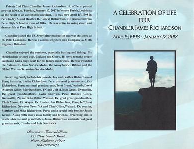 Chandler Richardson's Funeral Program 01 26 17 - ouside