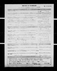 Marriage License - Alexandar Bondar and Tana Hand - 27Mar1965