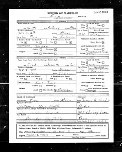 Record of Marriage - Anthony Alan Knotts and Jeanette Sue Grant - Dec 1976