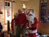 Enjoying a visit from Santa & Mrs Claus on Xmas Eve