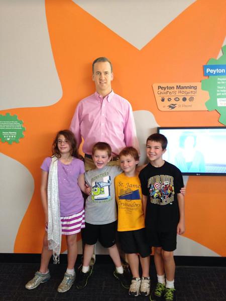 The kids met Mr Manning , 2014