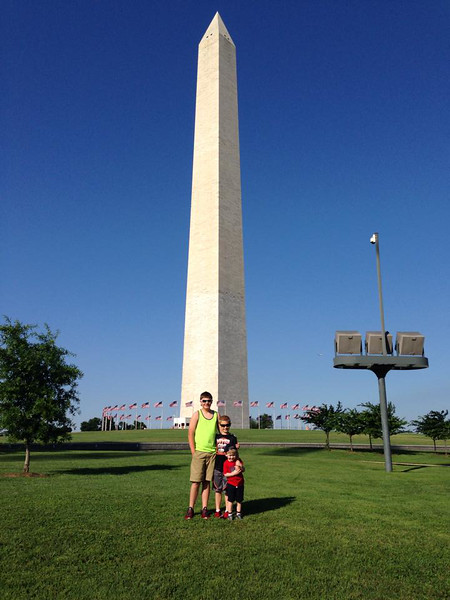Cole and Gabe Kistler, and Samuel in Washington DC June 2014