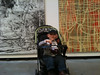 he can actually make better art in his diapers than some of these made for this exhibit