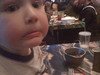 Pot 'o mud and worms at Rainforest Cafe    Mommy, it that REAL dirt