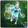 Having a bubbly time