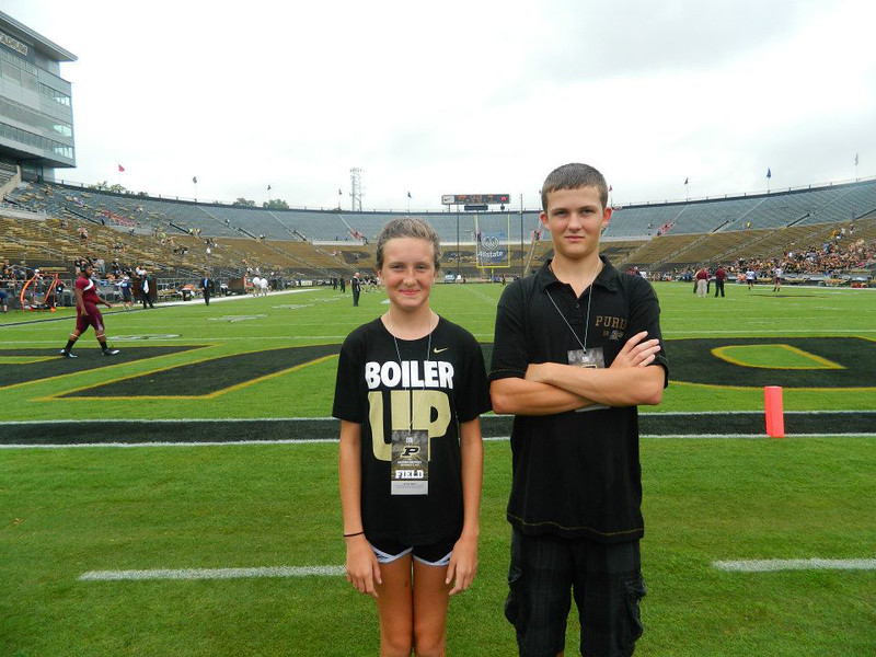 On the field before the game