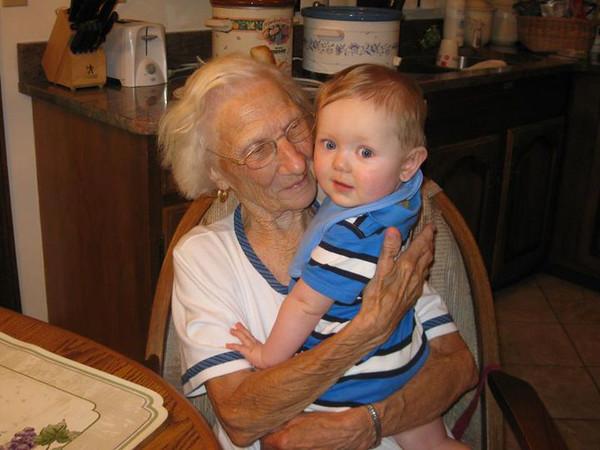 August 24 - Celebrating Great Grandma Meyers' 92nd Birthday