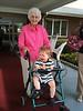 Grandma Sullivan loves giving Samuel rides (and Sam loves getting rides on Grandma's walker)