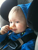 Eating some McDonald's fries on the way to Grandma Sullivan's house for Thanksgiving dinner  Yummy!!!