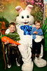 Gabe & Samuel meet the Easter Bunny