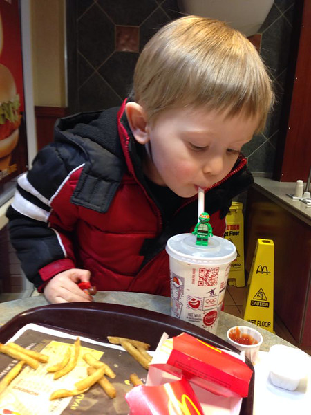 Collecting The Lego Movie cups from our Happy Meals