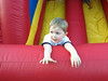 Having fun at the bounce house