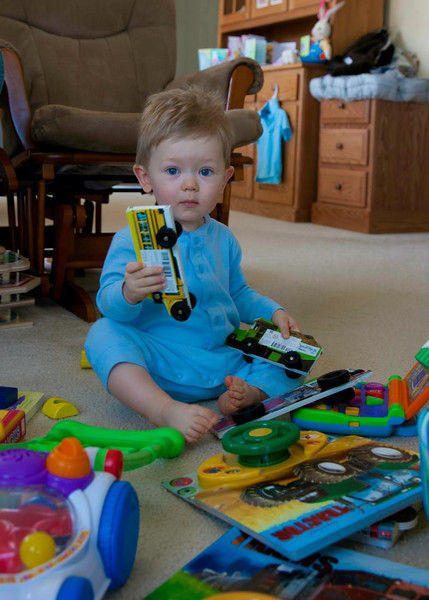 Easter Morning, Samuel instects his find, 2012