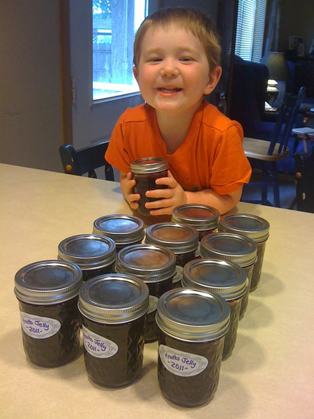 My taste-tester has approved the 2011 Knotts grape jelly