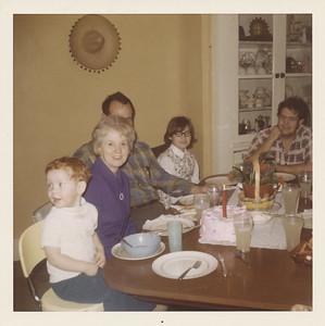 Stephen Sullivan, Eileen Sullivan (GMA), Ellis Sullivan (GPA), Ramona Grant, and Max Sullivan, Peru, Indiana - 1971