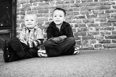 Boys black and white