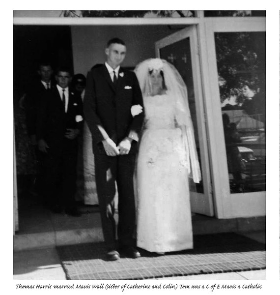 CD-J-086  Pats old pix Fixed.. Tom Harris just married a Catholic. Mavis Wall.