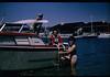 Grandpa Tom, Great Aunt Fran, Great Grandma Delpha boating at Newport Beach