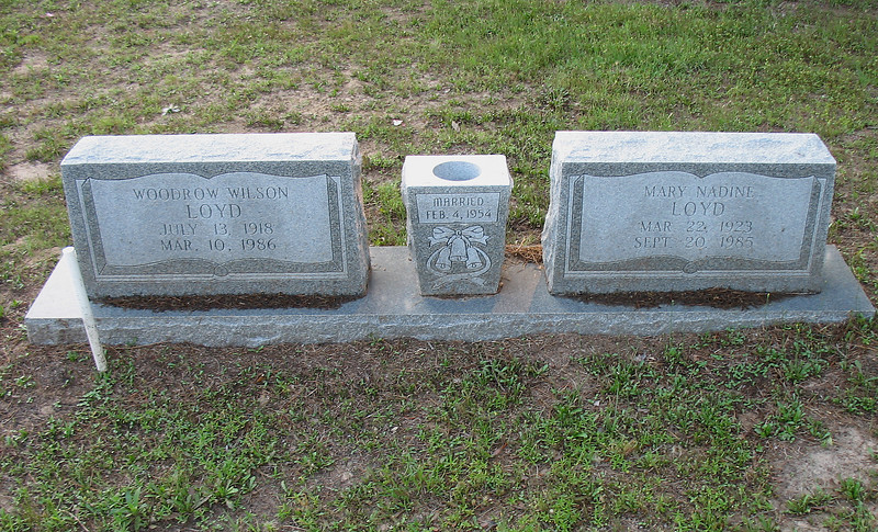 Woodrow Wilson & Mary Nadine Loyd Reilly Springs TX