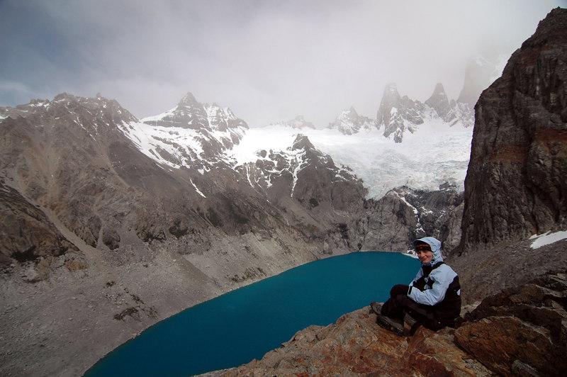 Mirela in Patagonia, Laguna Sucio, Fitz Roy, Argenrina, Decembrie 2006