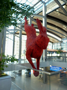Giant rabbit at new Sacramento Airport!