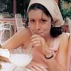 Our Honeymoon in Antigua - Tory enjoying a Banna Daiquiri at the Kesington House
