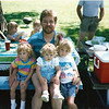 Summer 1988, Picnic in the Park. Jessie, Hayley, Traci and Doug. Uncle John Jensen in the background left.