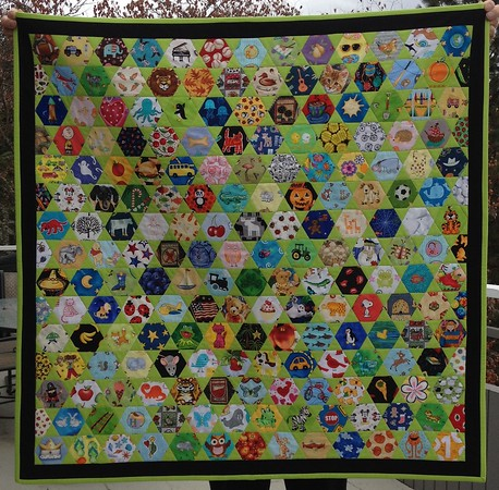 I Spy Quilt for Lylah Gust - January 2017