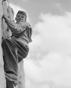 Jim Botz at Paul Petzoldt's Climbing School in the Grand Tetons