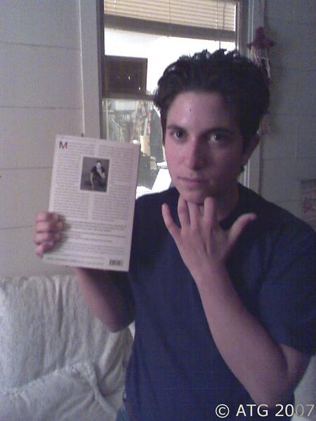 Jack Halberstam posing with his book again.