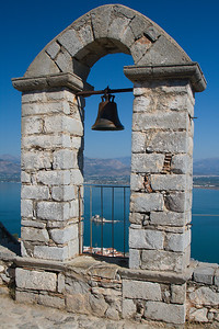 View of Bourtzi Castle & Harbour from Palamidi Fortress, Nafplio