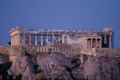 The Parthenon at Dawn From the Roof of the Cecil Hotel, Athens